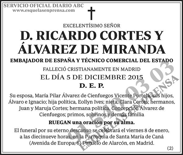 Ricardo Cortes y Álvarez de Miranda